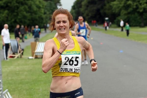 Marie Jose Poves winning at the 2013 Dublin Grand Prix of Race Walking  (Mark Easton)