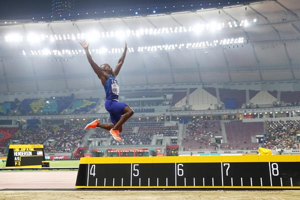 Jeff Henderson in the long jump at the IAAF World Athletics Championships Doha 2019 (Getty Images)