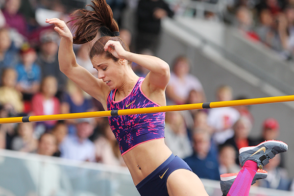 Ekaterini Stefanidi, winner of the pole vault at the IAAF Diamond League meeting in Birmingham (Jean-Pierre Durand)