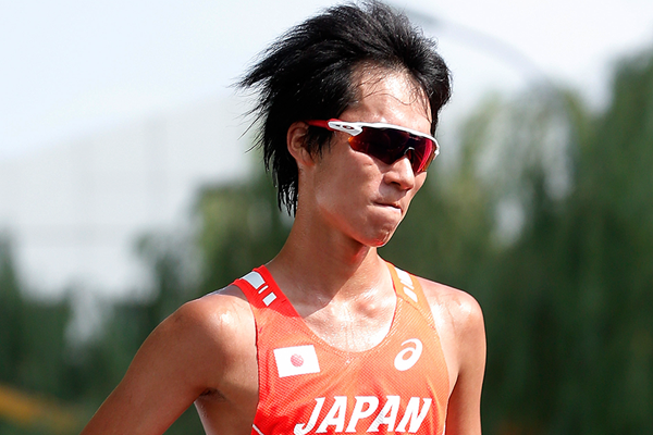 Japanese race walker Eiki Takahashi in action (Getty Images)