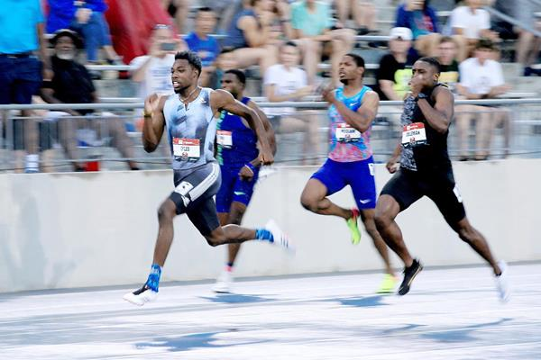 Noah Lyles on his way to the 200m title at the US Championships (Getty Images)