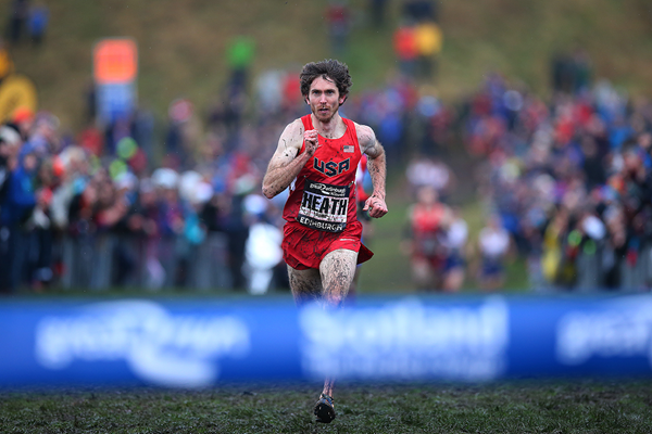 Garrett Heath on his way to winning the Great Edinburgh X Country (Getty Images)