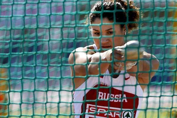 Tatyana Lysenko (RUS) - 76.50m in Malaga (AFP / Getty Images)