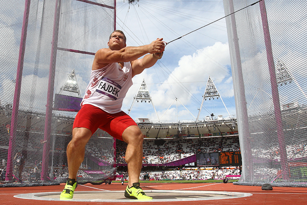 Pawel Fajdek in the hammer at the London 2012 Olympic Games (Getty Images)