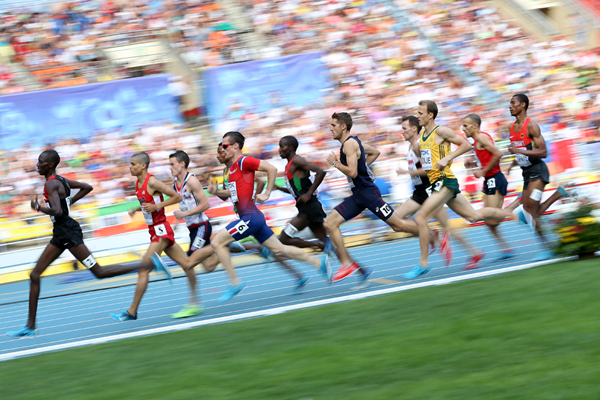 Athletes in action in the 1500m at the IAAF World Championships (Getty Images)