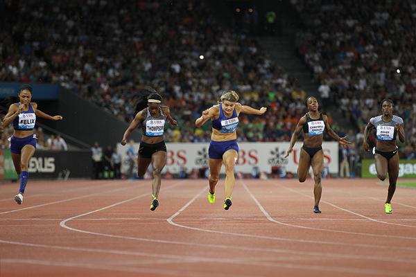 Elaine Thompson wins the 200m at the IAAF Diamond League meeting in Zurich (Jean-Pierre Durand)