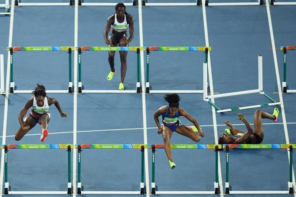 The 100m hurdles semi-finals at the Rio 2016 Olympic Games (Getty Images)