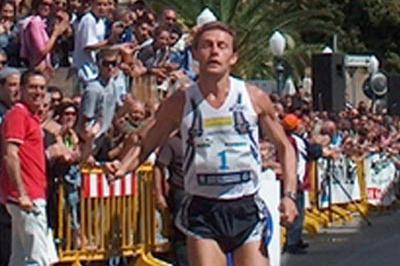 Stefano Baldini in the Scicli 10km race (Alberto Zorzi)