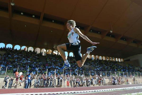 Christian Olsson of Sweden wins the World Athletics Final (Getty Images)