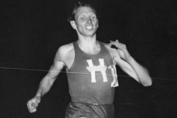 Swedish middle-distance runner Arne Andersson ()