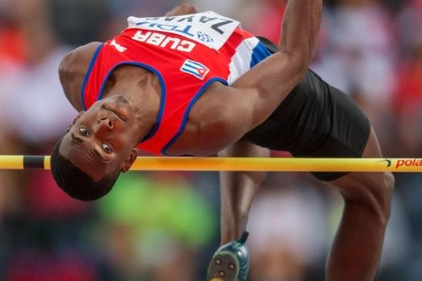 Luis Enrique Zayas in the high jump at the IAAF World U20 Championships Bydgoszcz 2016 (Getty Images)