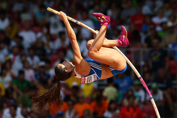 Ekaterini Stefanidi in the pole vault at the IAAF World Championships Beijing 2015 (Getty Images)