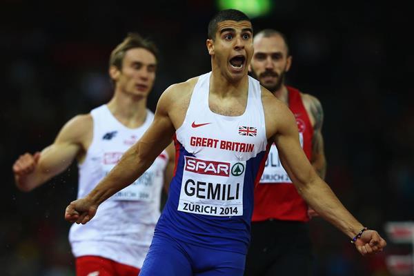 Adam Gemili wins the European 200m title (Getty Images)