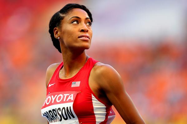US sprint hurdler Queen Harrison (Getty Images)