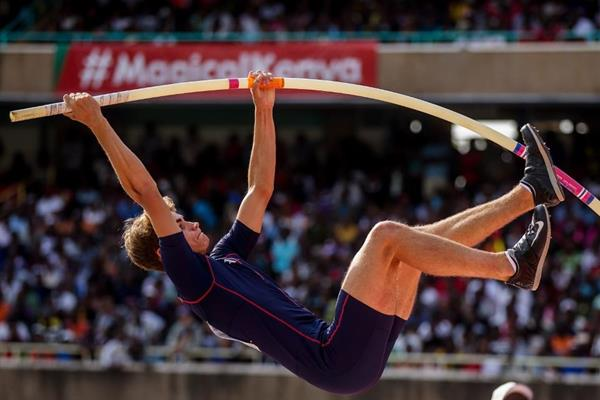 Matthias Orban in the pole vault at the IAAF World U18 Championships Nairobi 2017 (Getty Images)