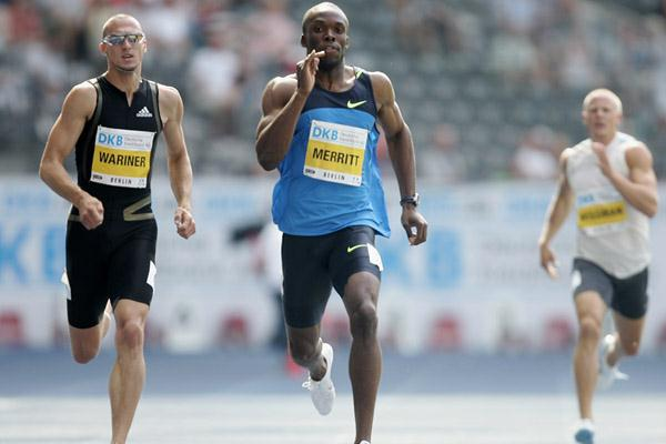 LaShawn Merritt beats Jeremy Wariner over 400m in Berlin (Getty Images)