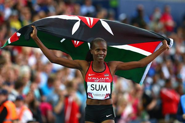 Eunice Sum winning the 800m at the 2014 Commonwealth Games (Getty Images)