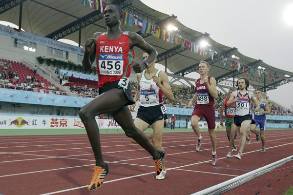 David Rudisha of Kenya in action in the men's 800m semi-final at the 2006 IAAF World Junior Championships (Getty Images)