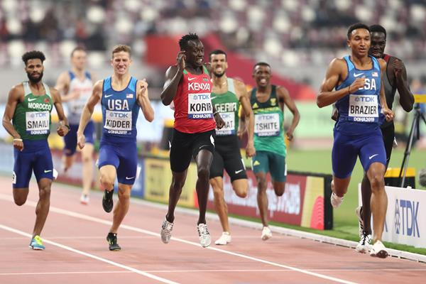 Donavan Brazier wins his semi-final at the IAAF World Athletics Championships Doha 2019 (Getty Images)
