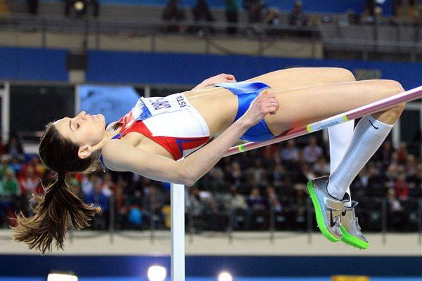 Anna Chicherova of Russia competes in the Women's High Jump Final during day two - WIC Istanbul (Getty Images)