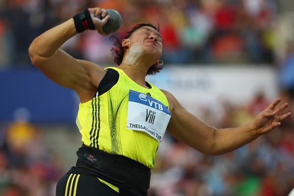 Valerie Vili smashes her own Commonwealth and national Shot record with a world-leading 21.07m (Getty Images)