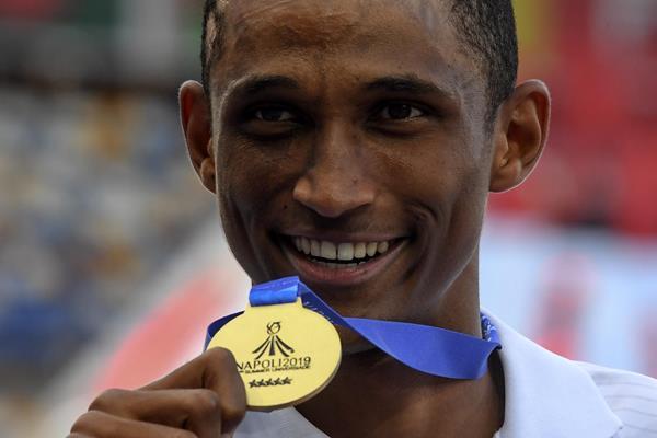 World University Games 400m hurdles champion Alison dos Santos of Brazil (Organisers)