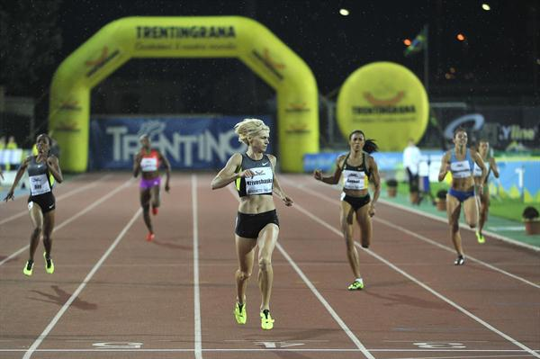 Antonina Krivoshapka clocks 49.94 in Rovereto (Daniele Mosna)