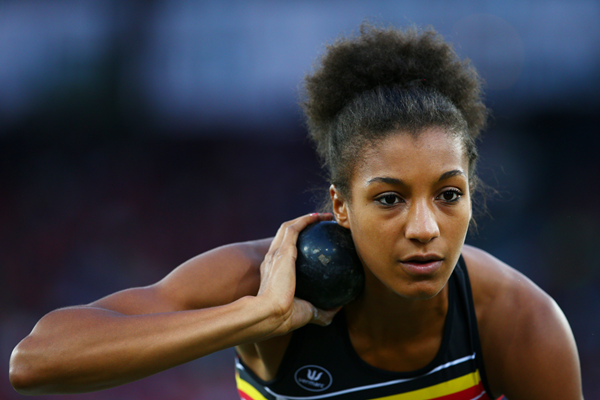 Belgian heptathlete Nafissatou Thiam in action in the shot (Getty Images)