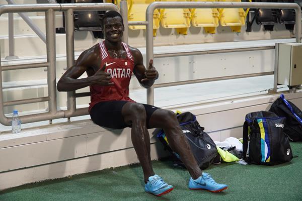 Abdalelah Haroun on the eve of the IAAF World Athletics Championships Doha 2019 (Sam Butcher)
