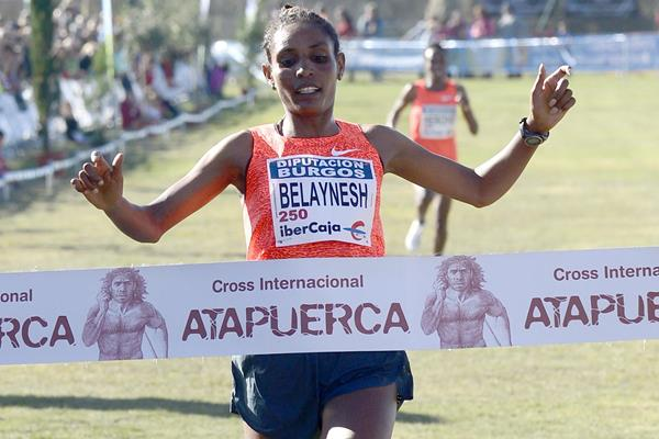 Belaynesh Oljira winning at the 2015 Cross Internacional de Atapuerca (Organisers)
