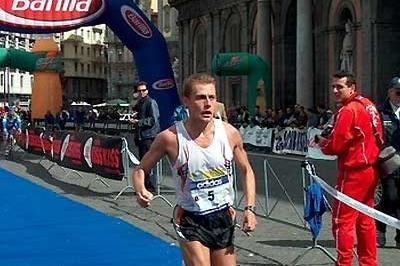 Stefano Baldini wins the national championships in Naples (Alberto Zorzi)