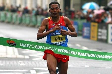 Zersenay Tadese wins his fourth World Half Marathon title (Getty Images)