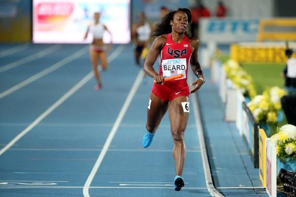 USA win their 4x400m heat at the IAAF/BTC World Relays, Bahamas 2015 (Getty Images)