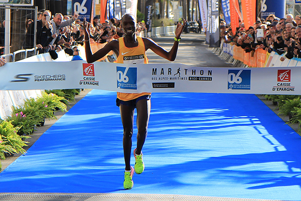 Elisha Kipchirchir wins the Marathon des Alpes Maritimes Nice-Cannes (Organisers / Mouv-up.com)