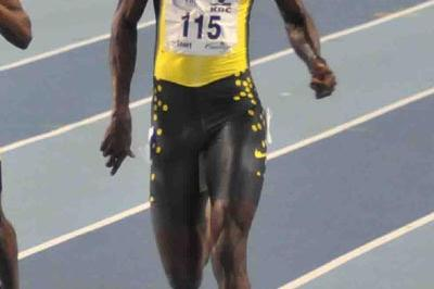 Jaysuma Saidy Ndure en route to 60m victory in Gent (Nadia Verhoft)
