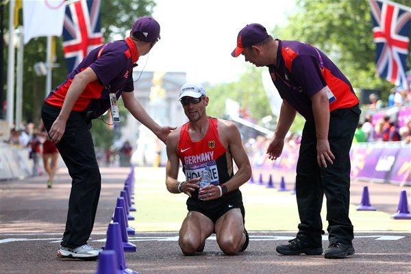 Andre Hohne of Germany competes during the Men's 50km Walk  of the London 2012 Olympic Games at The Mall on August 11, 2012 (Getty Images)