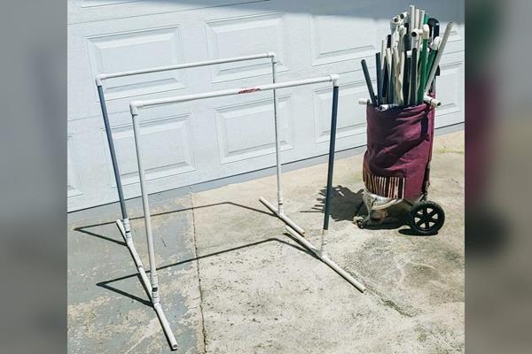 Andrea Vargas's home-made hurdles (Andrea Vargas)