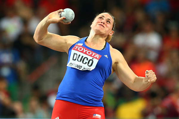 Natalia Duco in the shot put at the IAAF World Championships Beijing 2015 (Getty Images)