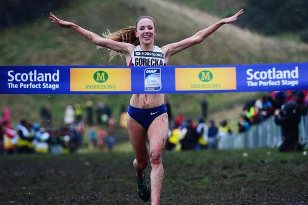Emelia Gorecka winning at the 2015 Great Edinburgh XCountry (Getty Images)