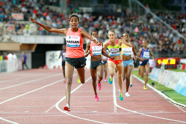 Sifan Hassan wins the 1500m at the IAAF Diamond League meeting in Lausanne (Victah Sailer)