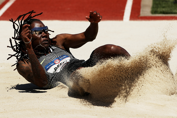 Brittney Reese wins the long jump at the US Olympic Trials (Getty Images)
