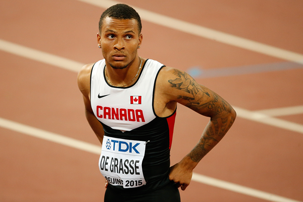 Andre De Grasse at the IAAF World Championships Beijing 2015 (Getty Images)