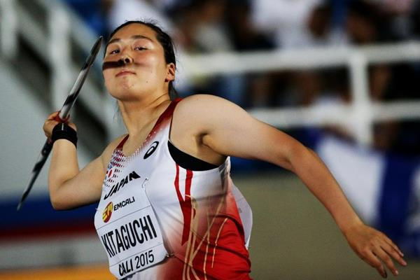 Haruka Kitaguchi at the IAAF World Youth Championships Cali 2015  (Getty Images)