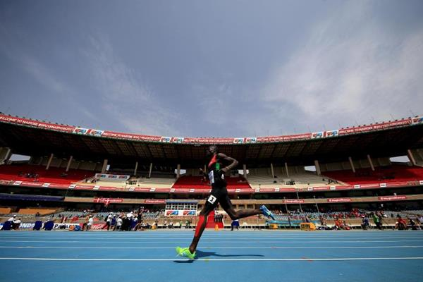 Dominic Kipkemboi in the 1500m at the IAAF U18 World Championships Nairobi 2017 (Getty Images)