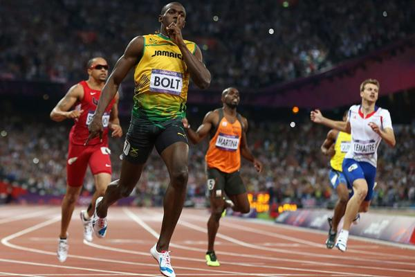 Usain Bolt winning the 200m in the London 2012 Olympics (Getty images)