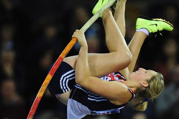 Holly Bleasdale, winner of the Pole Vault in Glasgow (Getty Images)