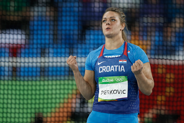 Sandra Perkovic in the discus at the Rio 2016 Olympic Games (AFP / Getty Images)
