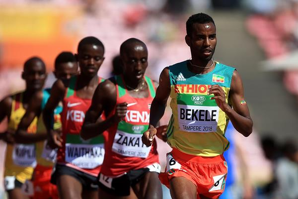 Telahun Haile Bekele in the 5000m at the IAAF World U20 Championships Tampere 2018 (Getty Images)