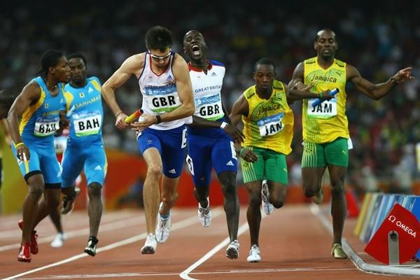 Great Britain, Jamaica and the Bahamas led the qualifiers in the second heat of the 4x400m (Getty Images)