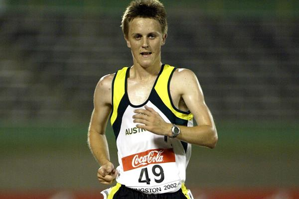 Jared Tallent at the 2002 IAAF World Junior Championships in Kingston (Getty Images)